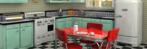 1950s vintage kitchen