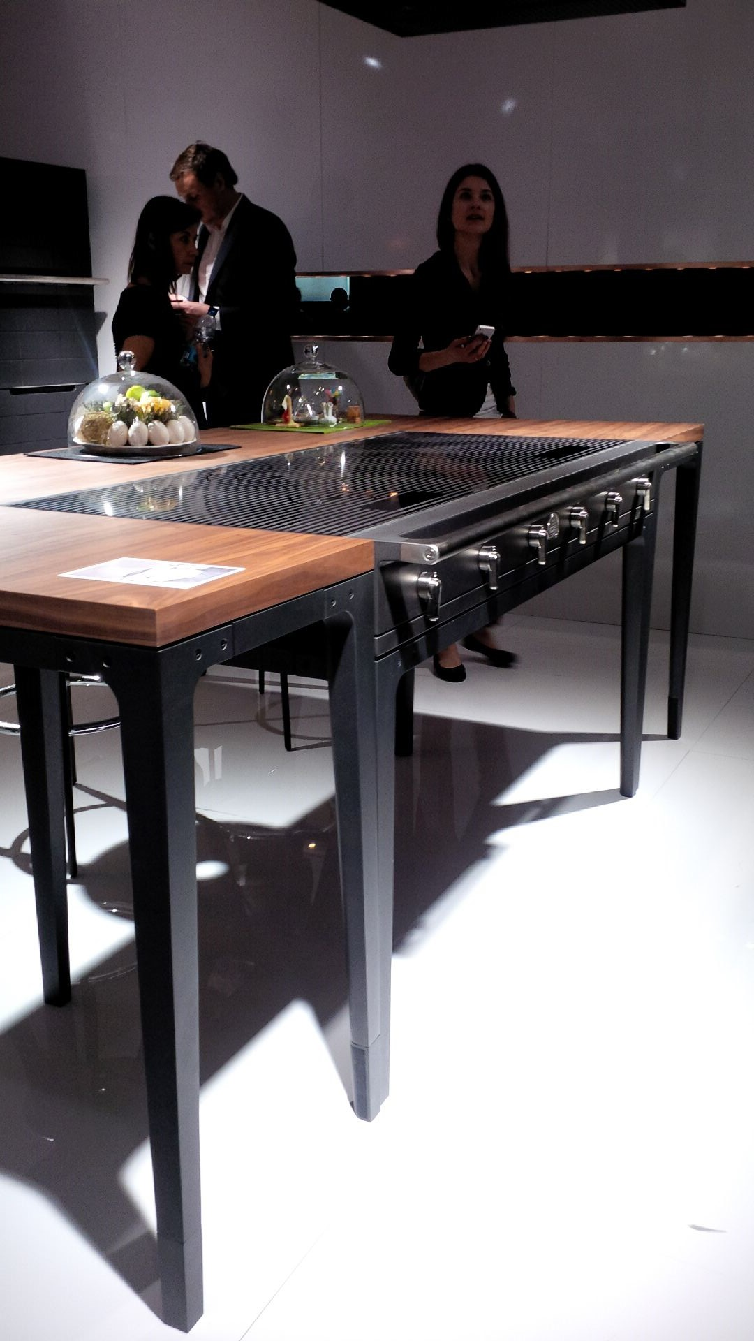 EuroCucina 2014  La Cornue cook top and table